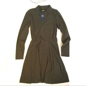 Hollister Key Hole Cut Out Long Sleeve Dress